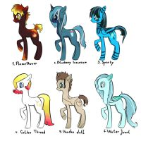 Pony Adoptables *OPEN*(I accept drawings) by k9gqlukg
