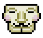 8-Bit Guy Fawkes Mask by AgentSmith24