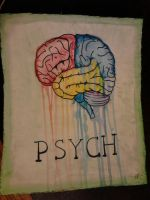PSYCH - Watercolor painting (anatomically correct) by CrypticGrin