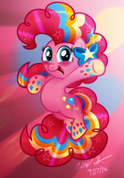 Rainbow Power Pinkie Pie by AleximusPrime