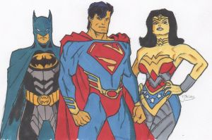 DC Trinity Redesign-colored by rulkout1993