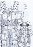 AA14 Sketch - Fortress Maximus and First Aid by Kingoji