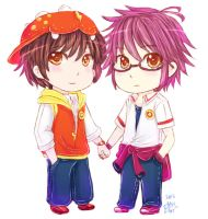 Chibi Boboiboy And Fang by ibahibut