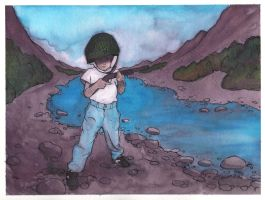 Little soldier boy watercolor2 by dragonmjos