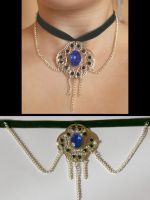Sapphire Necklace by Ewanecka