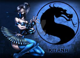 kitana color pin up by BrunoCotic