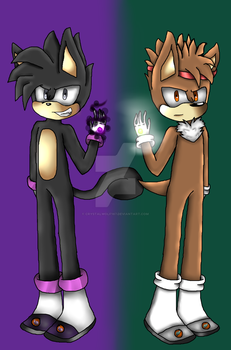 Tanvin The Squirrel e Anil The Hedegehog by CrystalWolf167