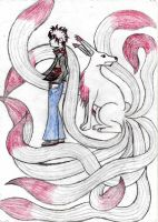 Riku with the Ninetails by REDRiku