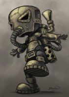 Steampunk Character WIP 2 by craig-bruyn