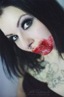 Red Lips Tell Bloody Secrets by Estelle-Photographie