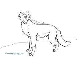 Wolf Lineart by scrappapereffects