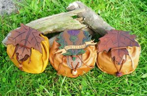 woodland pouches by Half-Goat
