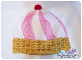 Ice Cream Cone Hat: Strawberries and Cream 3 by moofestgirl