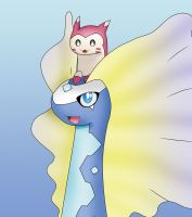 Aurorus and Furret
