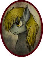 Derpy Hooves / Ditzy-Doo Portrait by AncientOwl