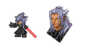 Xemnas the hedgehog sprite by Noland005