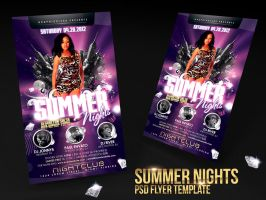Summer Nights Flyer Template by deiby
