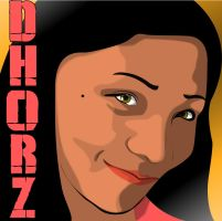 Vector Portrait of Dhorz: 2nd version by maddaluther