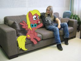 Chillin' on the coutch by Drako1997