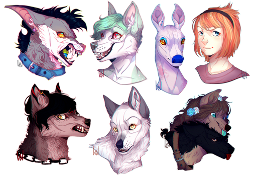 all the headshots by ScribbleWoof