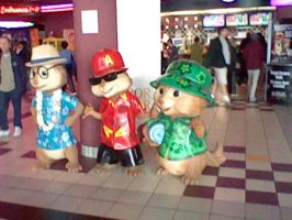 Alvin and The Chipmnunks Chipwrecked Statues by DearestLeader