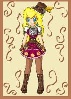 steampunk peach by ninpeachlover