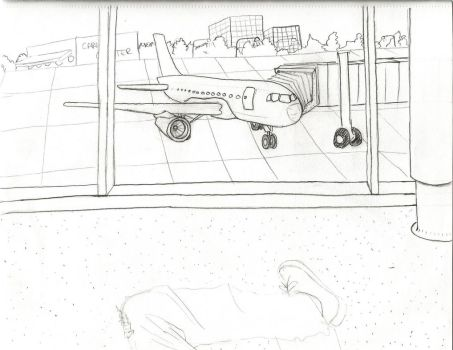 lookin out the airport window by CP-spayce