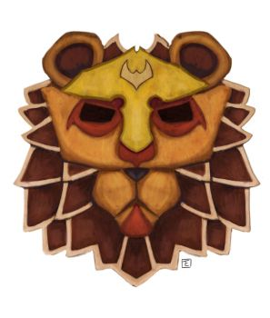 Commission | Lion Mask by kamink