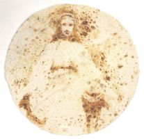 Virgin Mary on a tortilla by TimBakerFX