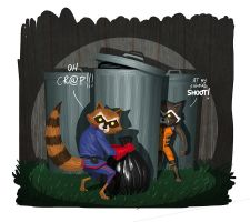 just Raccoons! by Entropician