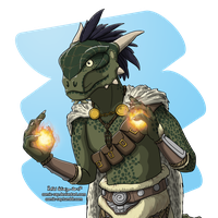 Argonian Dragonborn by Comic-Ray