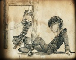 Astrid Finds Hiccup by inhonoredglory