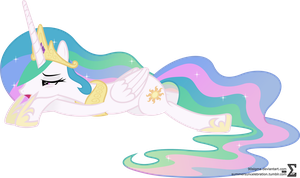 Sleepy Princess Celestia by 90Sigma