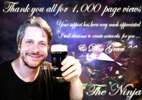 Thanks for 1000 page views by ninja-starz2