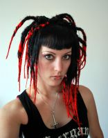 red and black dreads by we-will-break