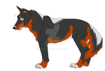 Wolf Adoptable 02 by ArtistMaz