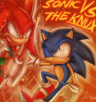 Sonic vs The knux by missyuna