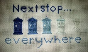 Next Stop Everywhere Cross Stitch by monstermelissa