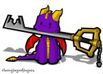 Spyro and the Keyblade by chocogingerfingers