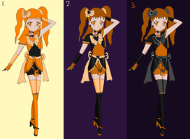 Dark Cure Orange degsins by cupcakeforever18