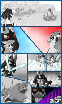 Lucario vs Pidgey Ground against Flying! by Jolterus