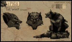The 3 PIGS (concept art - Wolf) by Torres-PT