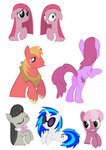 Pocket Pony Cutouts PART THREE by OceanBreezeBrony