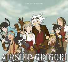 Airship Grigori by Evercelle by SilverbloodAlchemist