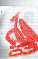 Two headed red Dragon by DHXfamily