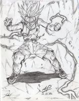 Trunks young SuperSaiyan by andyprophet