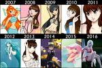 10 years of drawing by Jakly