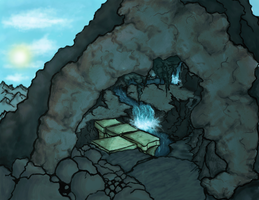 WIP: A cave by Unclesatan