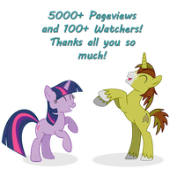 Allen and Twilight Sparkle - 5000+ Pageviews by DolphinFox