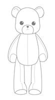 BLANK TEDDYBEAR BASE - Original Art by Miserable-in-Orange